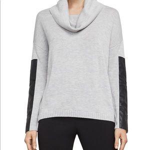 BCBG cowl neck color block sweater, sz M
